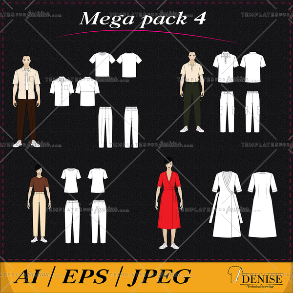 Mega pack of clothes and models 4