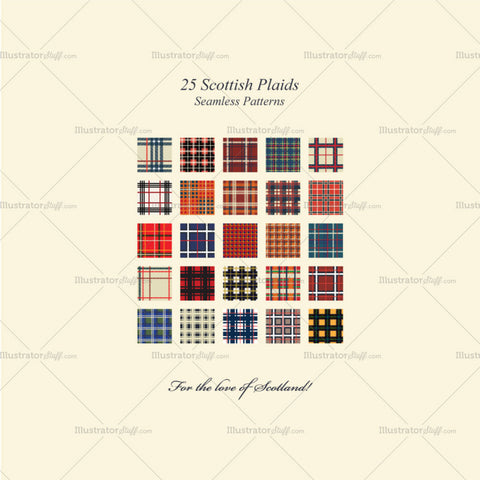 25 Best Scottish Plaids Seamless Repeating Patterns