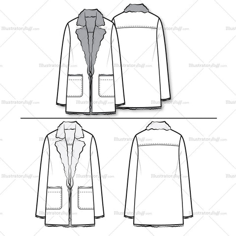 70's Jacket Flat Template