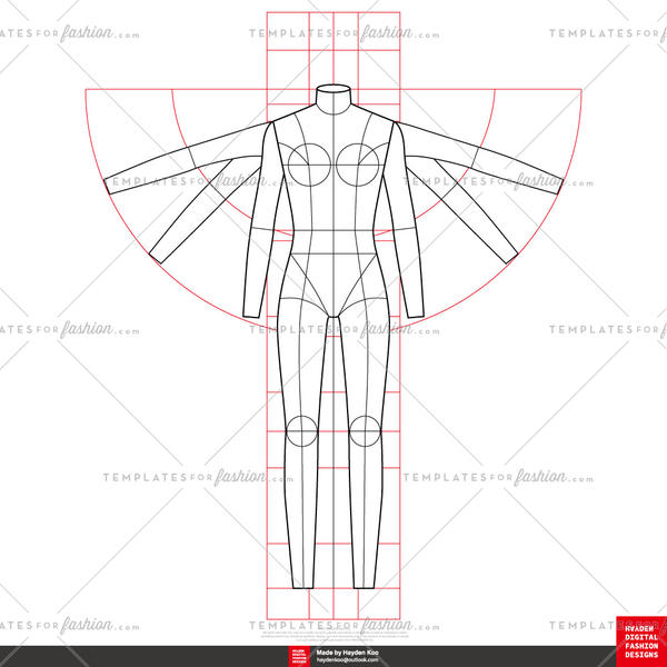 8 Head FASHION FIGURE TEMPLATES