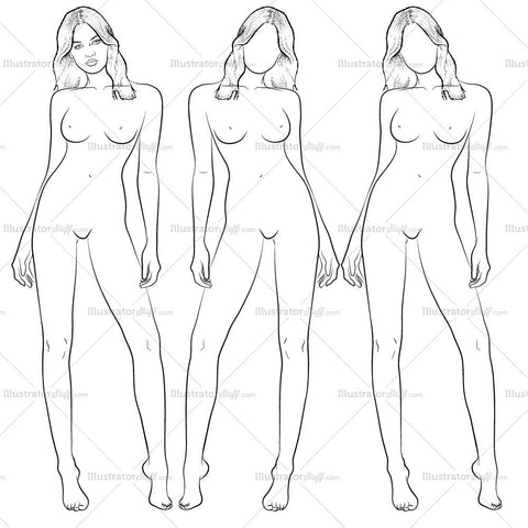 "Premium Croquis For Fashion Design ""amber"""