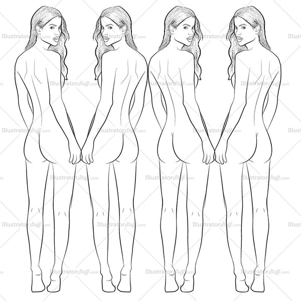 "Premium Croquis For Fashion Design ""ariel"""