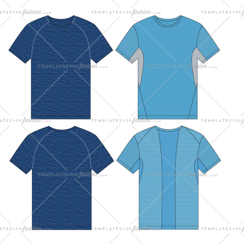 ATHLETIC T-SHIRT FASHION FLAT VECTOR FILE
