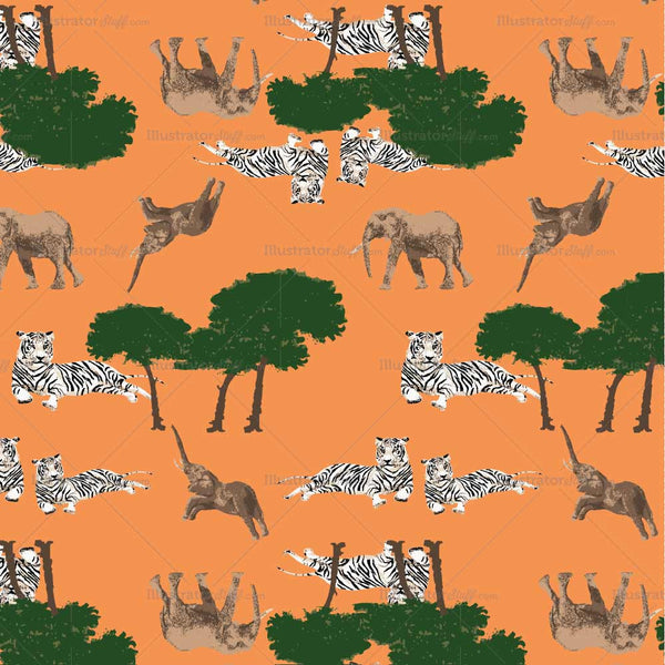 {Illustrator Stuff} Seamless Textile Safari Animal Print