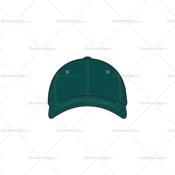 Basic Basecall Cap Fashion Flat Template
