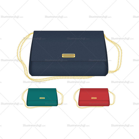 Classic Envelop Bag Vector Templates