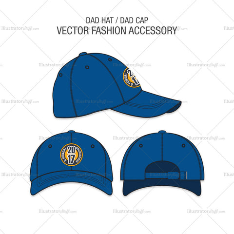 Dad Hat Vector Fashion Accessory