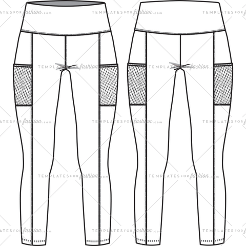 BASIC LEGGING W MESH POCKET