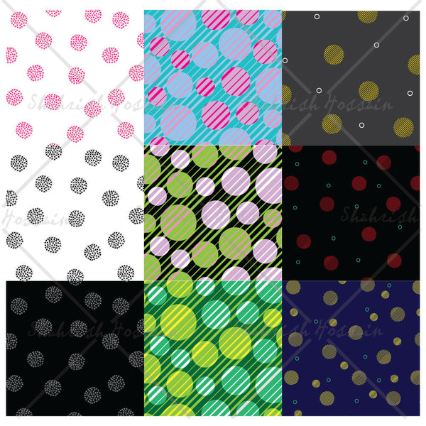 Dot Themed Repeating Patterns