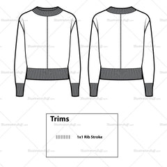 Batwing Top Flat Template