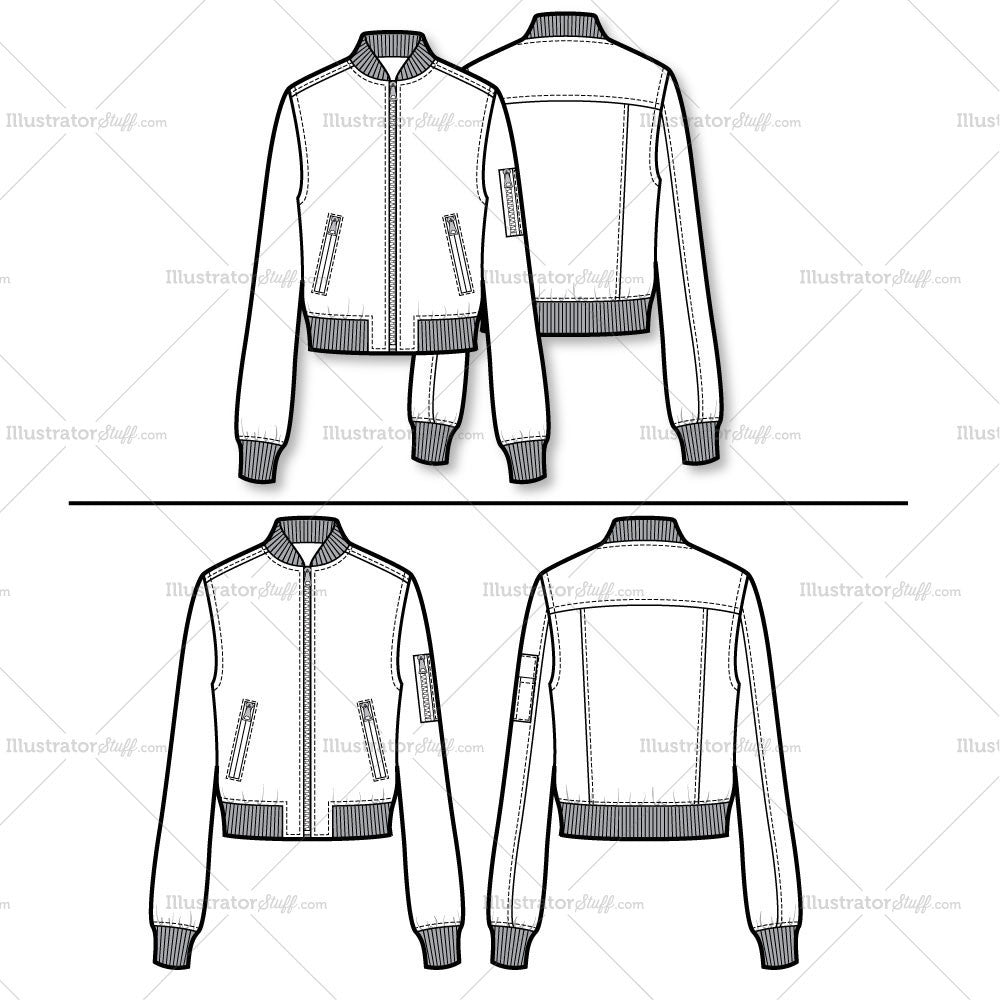 Bomber Jacket Flat Template Templates For Fashion