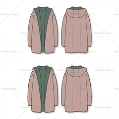 Unisex Cozy Reversible Coat