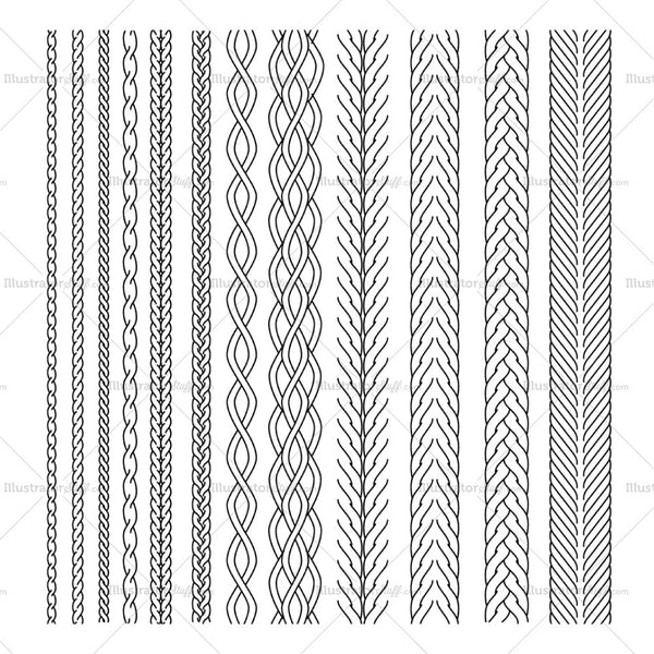Cable Brush Pattern Library
