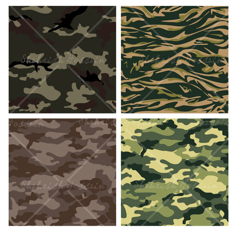 Camouflage Repeating Patterns