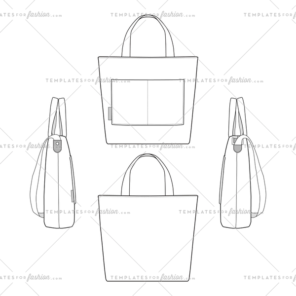 Canvas Tote bag Fashion design template