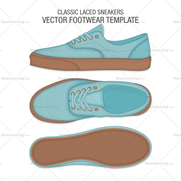 Classic Laced Vector Sneakers