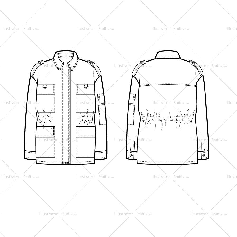 Classic Military Jacket Templates For Fashion