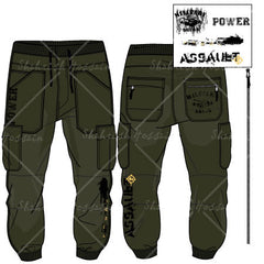 Men's Cargo Pants Fashion Flat Template