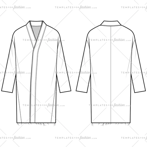 Coat Outer Fashion Flat Templates
