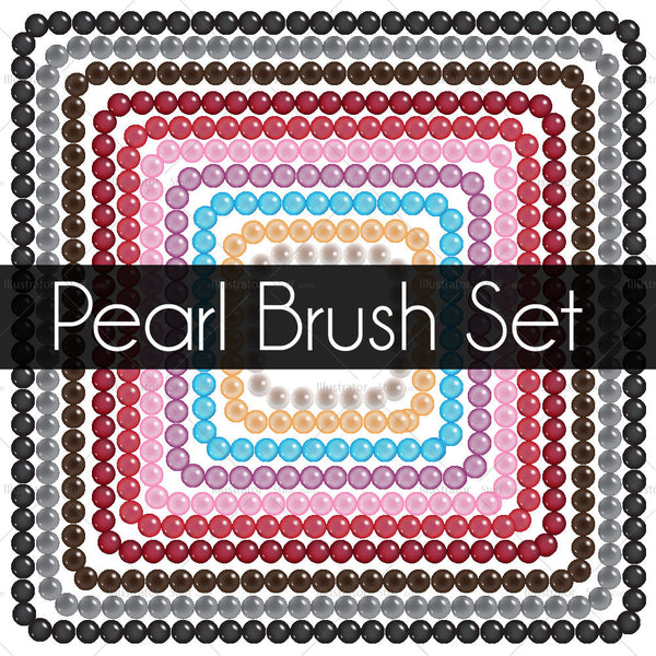 10 Color Pearl String Brush Set