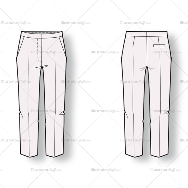Skinny Trousers With Side Pockets And Back Pockets. Fastens With Front Zip