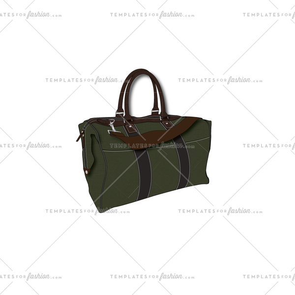 Duffle Bag-Fashion Flat Vector Template