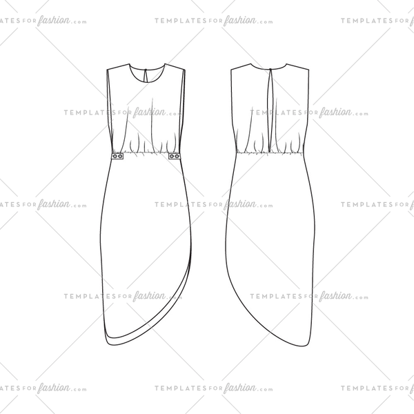 Women's Dress Fashion Flat Template