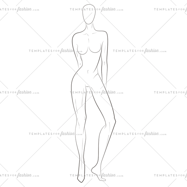 8 Head Fashion Figure Template