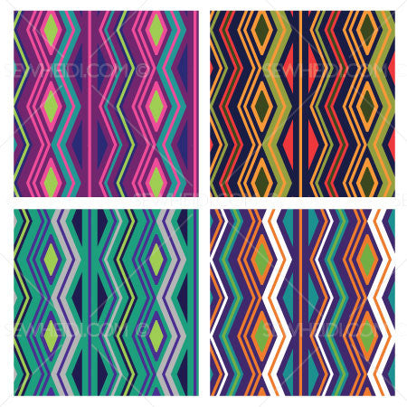 {Illustrator Stuff} Sew Heidi Tribal Argyle Repeating Pattern