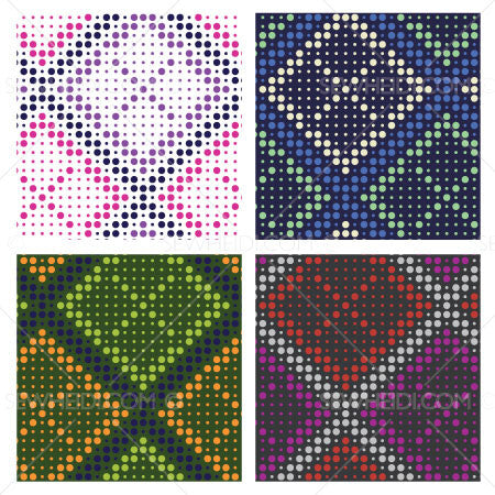 {Illustrator Stuff} Sew Heidi Dotted Argyle Repeating Pattern