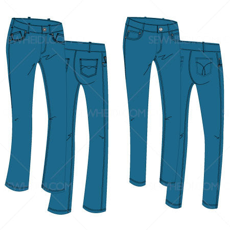 {Illustrator Stuff} Sew Heidi Women's Jeans