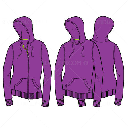 {Illustrator Stuff} Sew Heidi Women's Hooded Sweatshirt Illustration