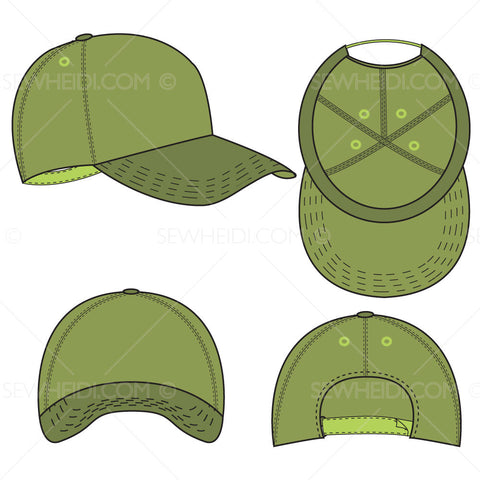 {Illustrator Stuff} Sew Heidi Baseball Cap Illustration