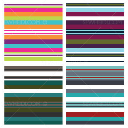 {Illustrator Stuff} Sew Heidi Uneven Stripe Repeating Pattern