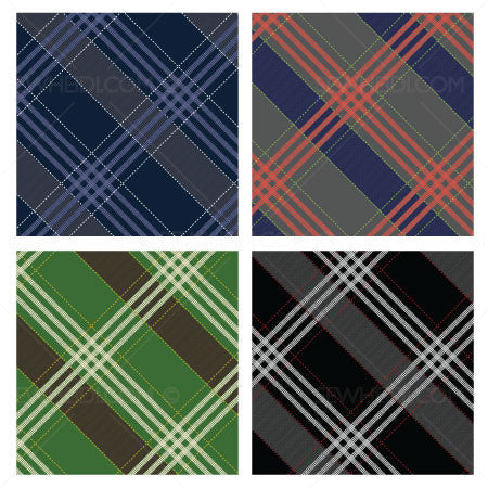{Illustrator Stuff} Sew Heidi Dashed Printed Plaid