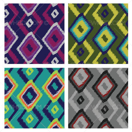 {Illustrator Stuff} Sew Heidi Ikat Argyle Repeating Pattern