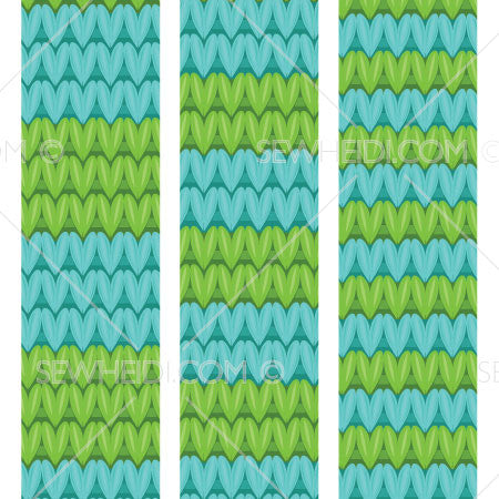 {Illustrator Stuff} Sew Heidi Knit Stripe Seamless Vector Pattern Swatches