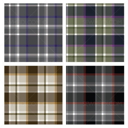 {Illustrator Stuff} Sew Heidi Repeating Plaid Pattern