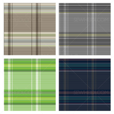 {Illustrator Stuff} Sew Heidi Fine Line Plaid Repeating Pattern