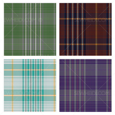 {Illustrator Stuff} Sew Heidi Plaid Repeating Pattern