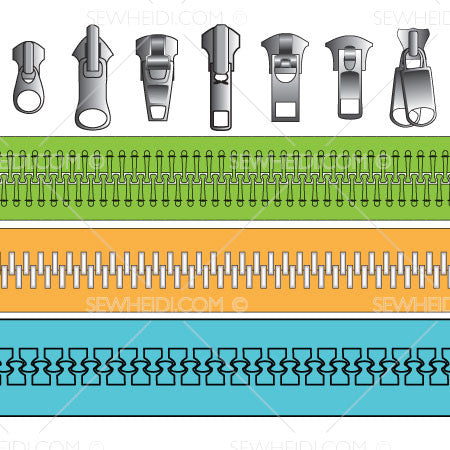 Zipper Sliders & Zipper Pattern Brushes