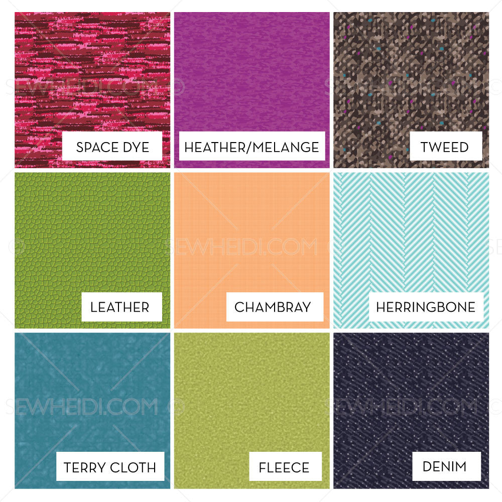 Fabric Texture Swatch Pack Illustrator Stuff