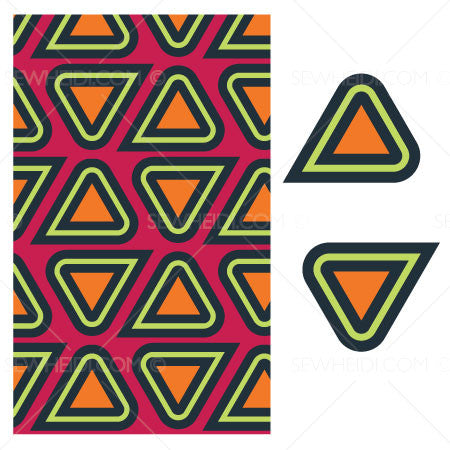 {Illustrator Stuff} Sew Heidi Triangular Repeating Pattern