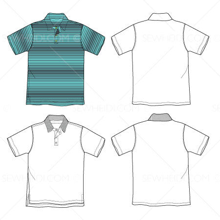 Men's Polo Fashion Flat Template