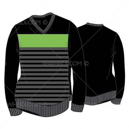 {Illustrator Stuff} Sew Heidi Men's Striped Sweater Illustration