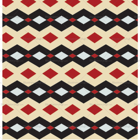 Saloon Seamless Repeating Pattern