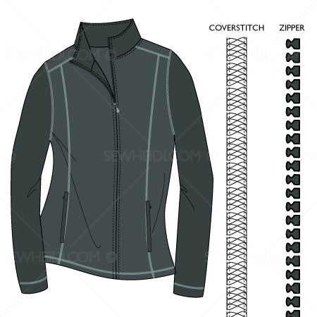 {Illustrator Stuff} Sew Heidi Women's Full Zip Mock