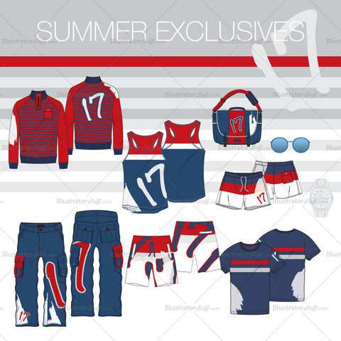 Men Artistic Summer Fashion Set