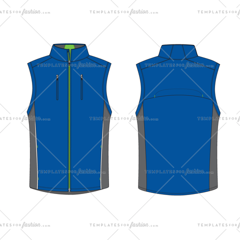 FULL ZIP WINDVEST FASHION FLAT VECTOR FILE