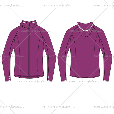 FUSION HYBRID JACKET FASHION FLAT VECTOR FILE